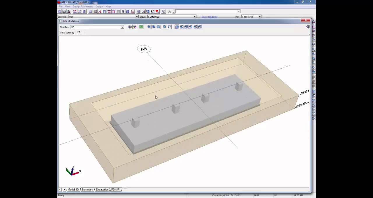 Afes Foundation Design Software Continuous Footing 02