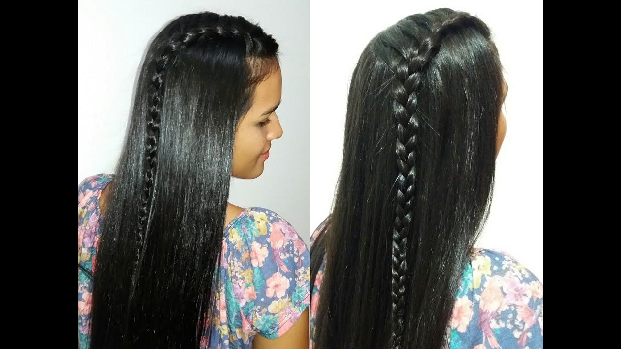 Peinado facil con trenza lateral paso a paso trenzas de - Peinados paso a paso trenzas ...
