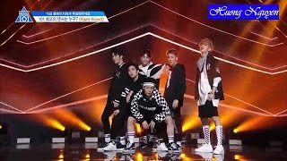 [Vietsub] Right round @Produce 101 EP 6 Position Evaluation (Dance)