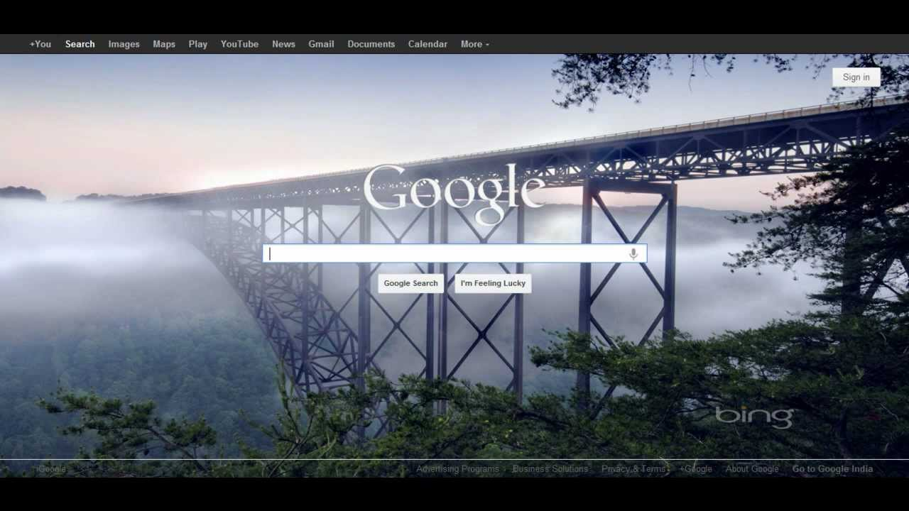 Show Bing Wallpapers on Google Homepage! - YouTube