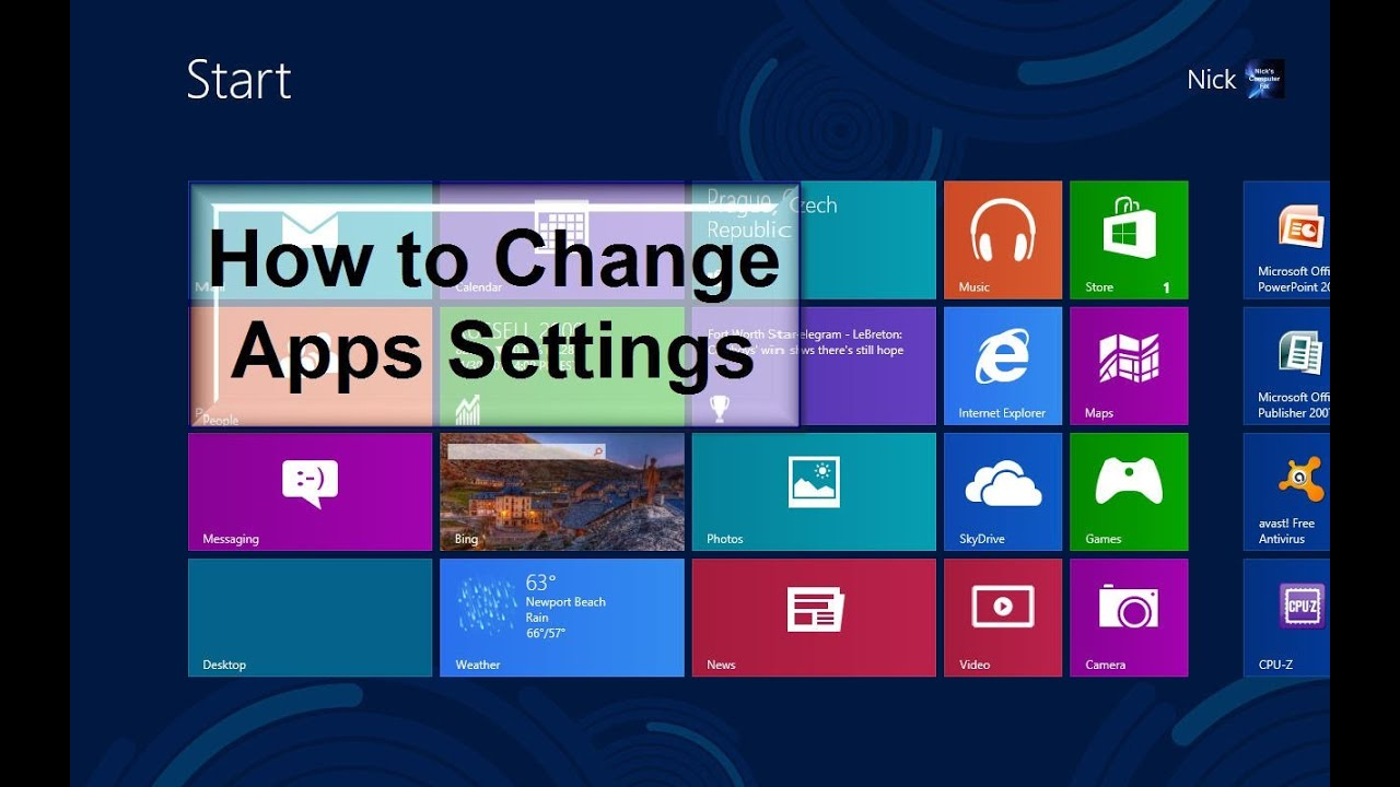 How to change apps settings windows 8 amazingly easy for Apps to change photos