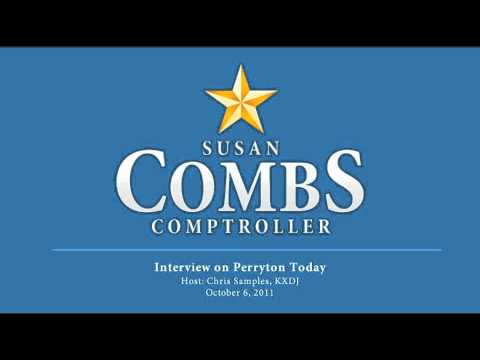 Susan Combs Interview on Perryton Today Oct. 6, 2011