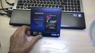 замена HDD на SSD 128 Gb, ускоряем ноутбук
