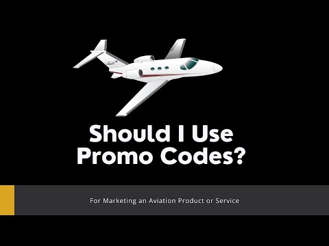 Wins Wednesday - Should I Use Promo Codes for Aviation Marketing?