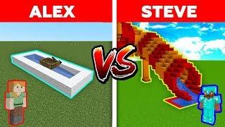 EN İYİ SU KAYDIRAĞINI KİM YAPICAK? 😱 (Alex vs Steve) - Minecraft