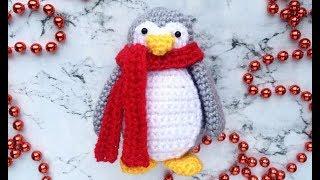 Мастер-класс, вяжем пингвинчика крючком