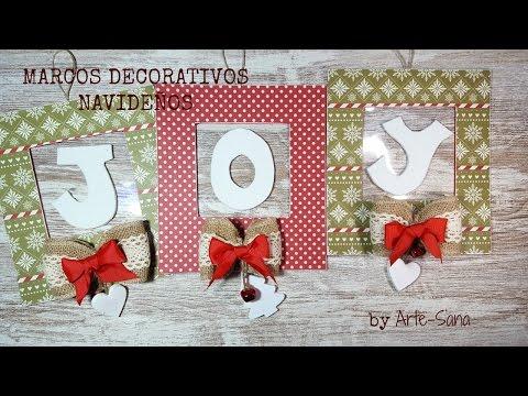 Marcos decorativos Navideños -DIY home decor-