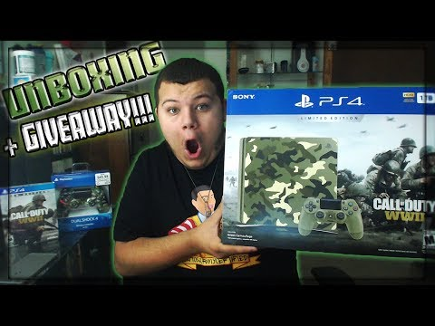 UNBOXING the Call of Duty WW2 Limited Edition Playstation 4 Slim!!! (And GIVEAWAY?)