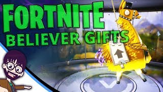 Fortnite - Believer Gift Llamas. AWESOME GOLD & MYTHIC!