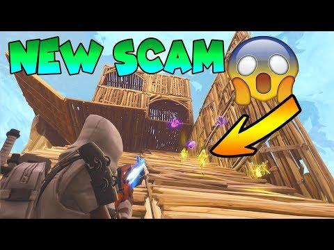 *NEW SCAM* Gun Slide Scam! (Scammer Gets Scammed) Fortnite Save The World