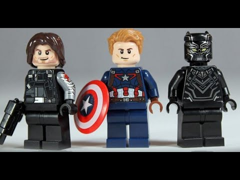 New captain america civil war official lego minifigures 2016 youtube - Lego capitaine america ...