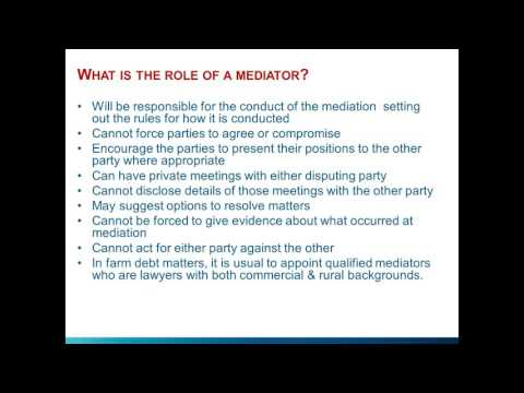 Strengthen your role in farm debt mediation