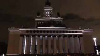 """Фестиваль """"Круг света"""" видеоинсталяция 3 (световое шоу/лазерное шоу) ВДНХ 2016."""