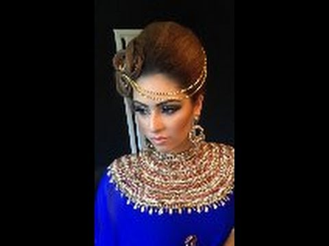 arabic hair style tutorial asian bridal hair and makeup tutorial arabic inspired 4702