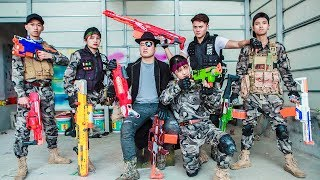 LTT Nerf War : SEAL X Warriors Nerf Guns Fight Criminal Group Dr Lee One Eye