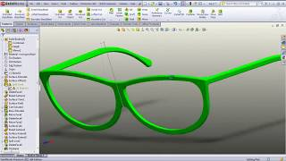 Sunglasses Desing With SolidWorks