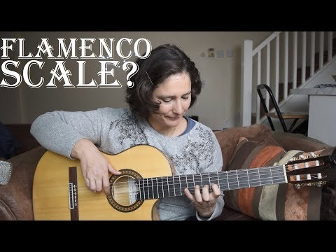 How to play a very common flamenco scale -  phrygian mode on guitar ✔