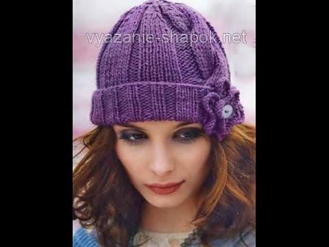 вязаная шапка женская своими руками фото