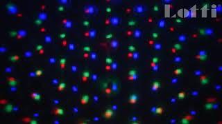 Vidéo: Projecteur LED effet chute de neige blanc froid et multicolore télécommande extérieur