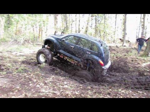 PT Cruiser 4x4 Mudding At Big Als Mud Bog - YouTube