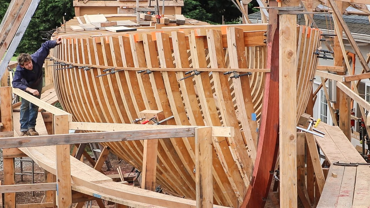 Boatbuilding - Lining-out for Planking (EP78)