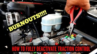 HOW TO TURN OFF TRACTION CONTROL FOR BURNOUTS CHEVY (SILVERADO/TAHOE)
