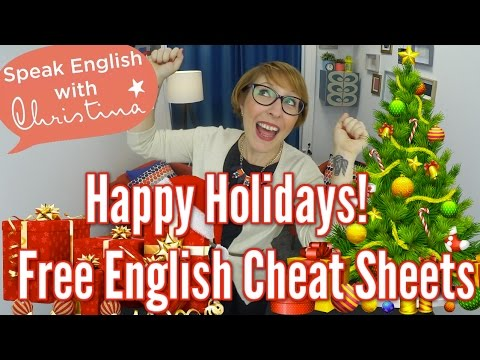 Free English Worksheets - Your gift to celebrate the holidays in English