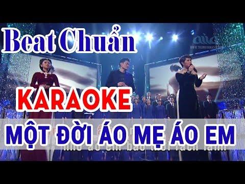 Một Đời Áo Mẹ Áo Em Karaoke Song Ca | Asia Karaoke Beat Chuẩn