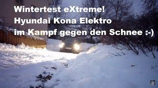 Hyundai Kona Elektro #13: Wintertest eXtreme! Wie schlägt sich das Mini-SUV im Schnee? 🤔