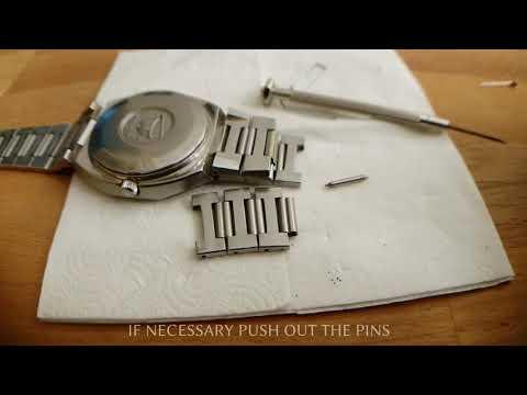 Adjust watch metal band DIY with paper clip