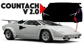 I re-design the Lamborghini Countach into a modern car!