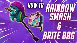 Wie zu: GET RAINBOW SMASH PICKAXE UND BRITE BAG IN FORTNITE KOSTENLOS (TUTORIAL)