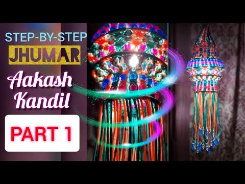 HOW TO MAKE Macrame Jhumar   Macrame Akashkandil   Macramé Lantern   PART 1