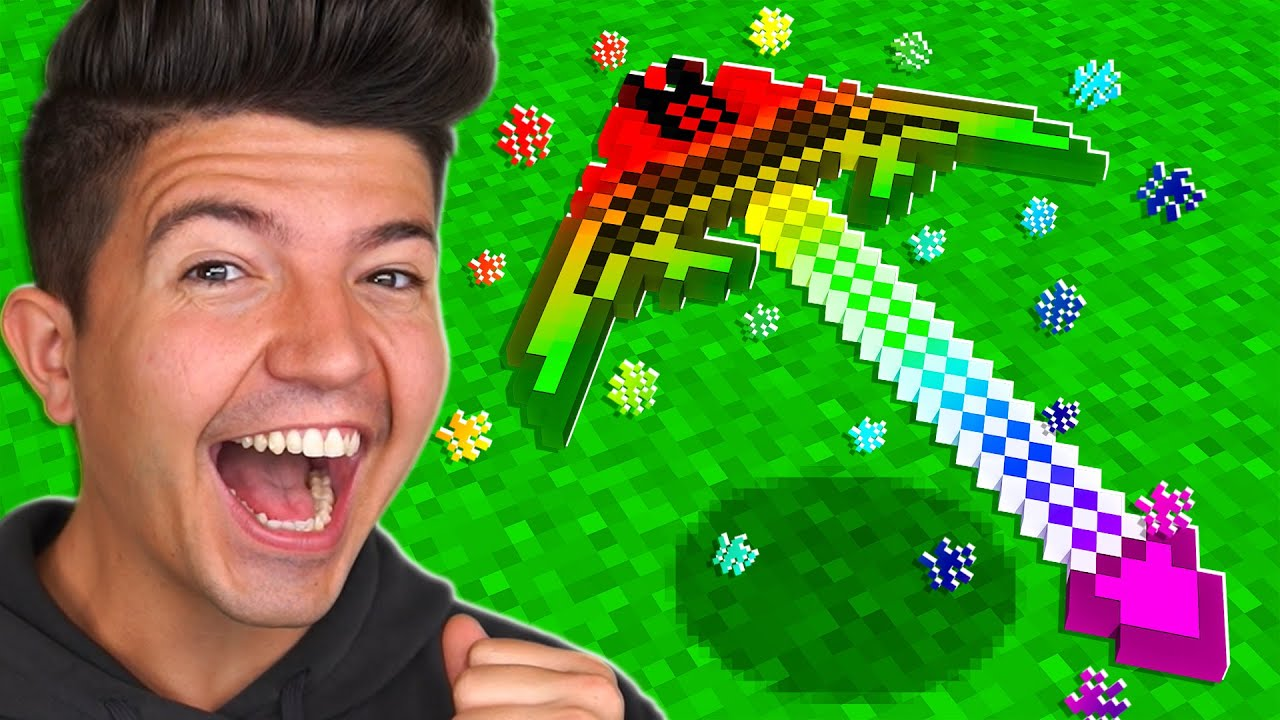 How to Craft a $3,000,000 GOD Pickaxe! - Minecraft