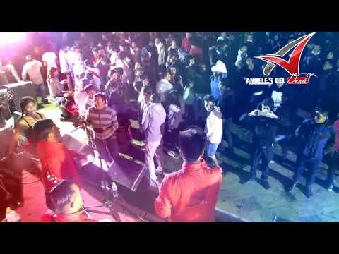 ÁNGELES DEL PERÚ - MI COLEGIALA EN VIVO - PLAZA DE ARMAS CAJABAMBA - PERÚ - 2017