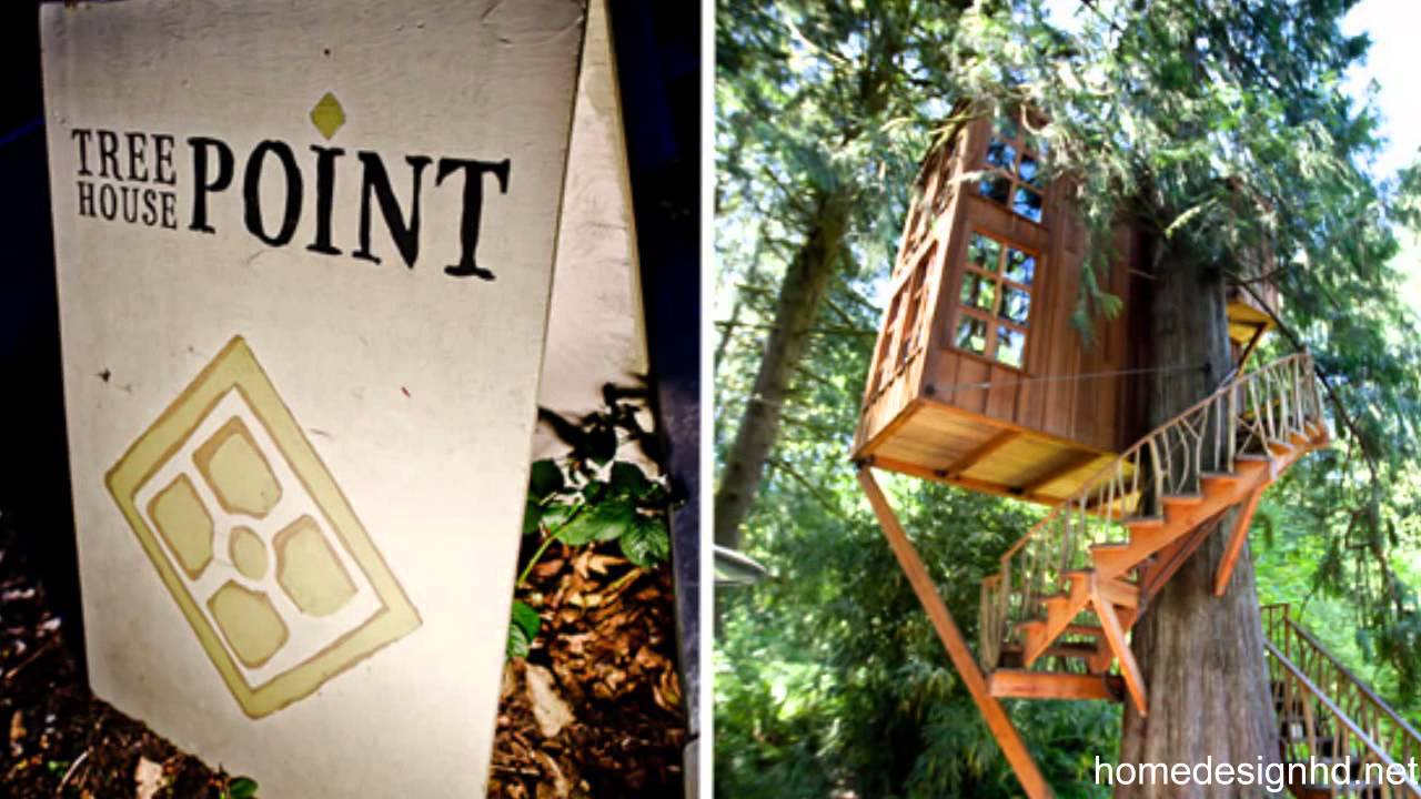 Whimsical Treehouse Point Getaway In Issaquah Wa Hd Youtube