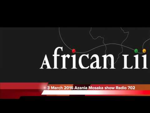 Radio 702 Interview with AfricanLII