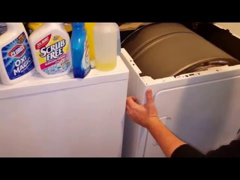 How to clean the lint from below your front dryer vent lint trap