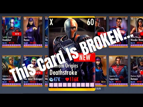 Why is Arkham Origins Deathstroke SO GOOD? Injustice Gods Among Us 3.3! iOS/Android!