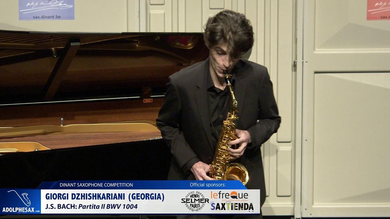 Giorgi Dzhiskariani (Georgia) - Partita II by J.S.Bach (Dinant 2019)
