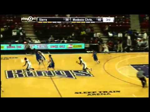Sierra #30 Justin Patton with a great layup and foul