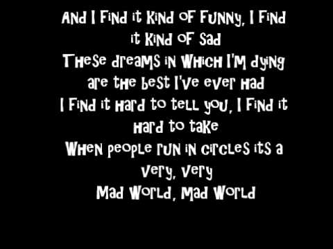 Mad World by Aidan Grimshaw with lyrics