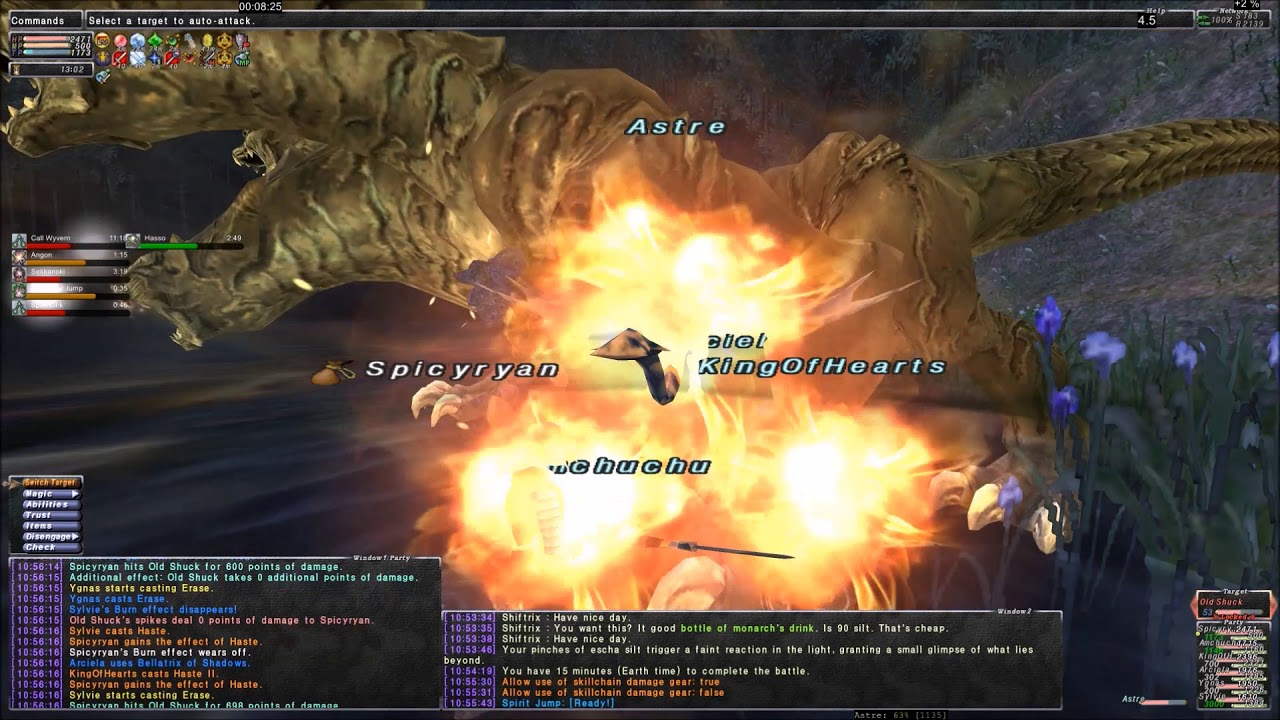 FFXI - Reisenjima Old Shuck Solo DRG with Trusts