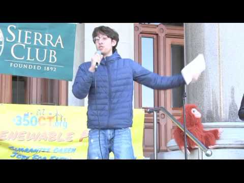 "Hartford Rally Calls for 100% Renewable, ""No"" to Pipelines for Methane"