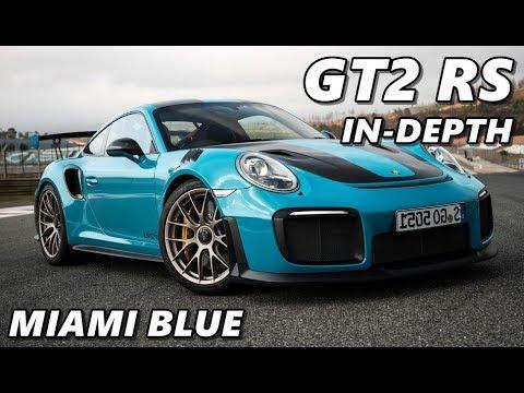 2018 Porsche 911 GT2 RS - Miami Blue - Driving, Exterior, Interior on riviera blue, porsche black and blue, columbia blue,