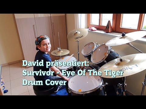 (Rocky) Eye Of The Tiger - Drum Cover By 9 Years Old David