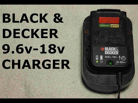 BLACK & DECKER 9.6v-18v Universal Charger Unboxing and Review