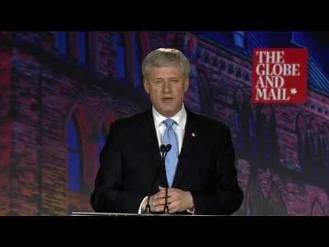 Stephen Harper at the Globe leaders