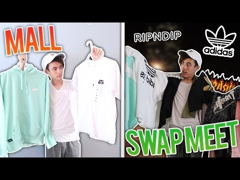 What $100 Will Buy At The Mall VS Swap Meet (Thrasher, Adidas Original, RipNDip, Obey)