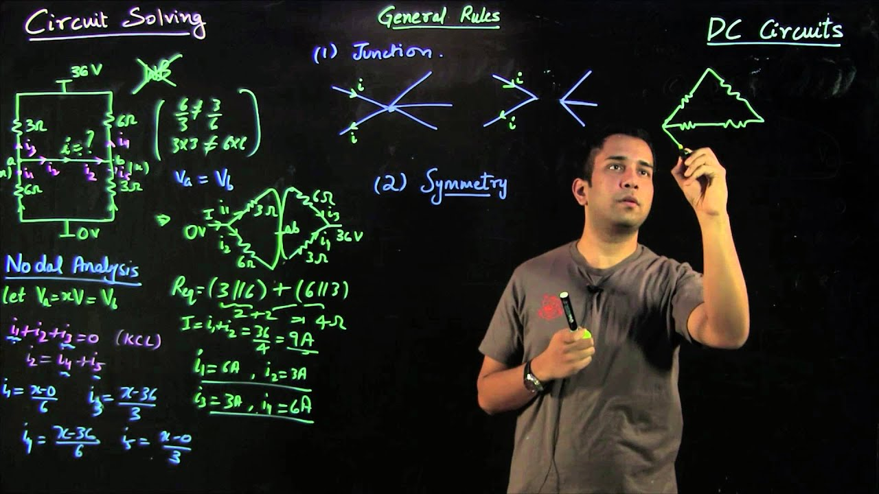 Lecture 09 Dc Circuits Circuit Solving Rules And Examples Youtube Calculations